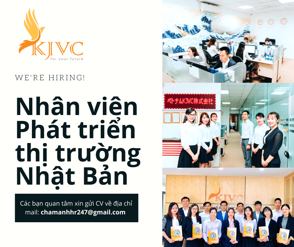 KJVC Việt Nam tuyển 03 nhân viên Phát triển thị trường Nhật Bản