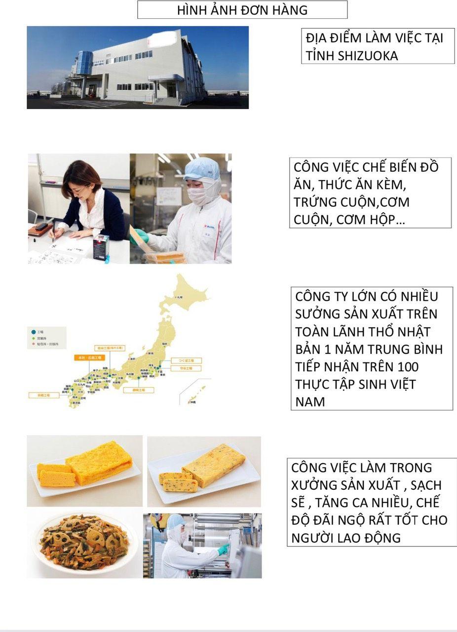 Đơn hàng chế biến thực phẩm 14/07/2021